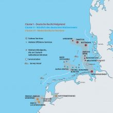 Cluster-Management Offshore der Deutschen Windtechnik. (Grafik: Axel Boesten)