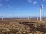 Wind farm Farr in Scottland