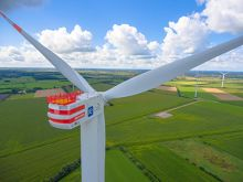Deutsche Windtechnik is providing service for Senvion 6.2M turbines at the Handewitt wind farm. (Photo: re:cap global investors ag)