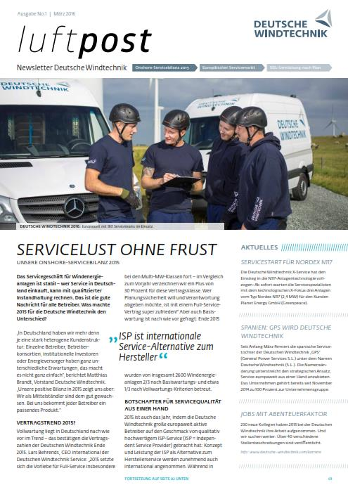 luftpost No. 1/2016 - Internationaler Service