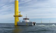 Seabed surveys in the offshore wind farm (Photo: Deutsche Windtechnik)